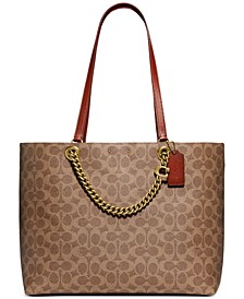 Coated Canvas Signature Chain Convertible Tote