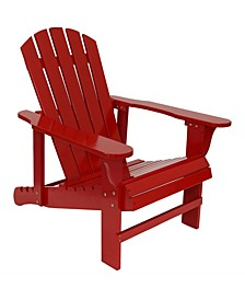 Wooden Outdoor Adirondack Chair with Adjustable Backrest