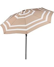 9' Outdoor Patio Umbrella with Push Button Tilt and Crank
