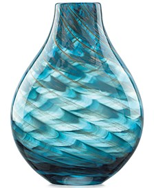 Gifts, Seaview Swirl Bottle Vase 11""