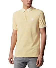 BOSS Men's PSelf Medium Yellow Polo Shirt