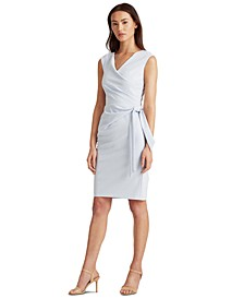 Jersey Cap-Sleeve Dress
