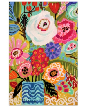 Empire Art Direct Fresh Flowers in Vase I Frameless Free Floating Tempered Art Glass Wall Art by Ead Art Coop, 48