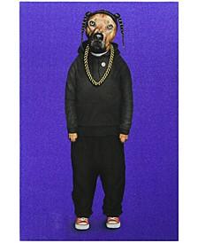 "Rap Glitter High Resolution Graphic Art Print on Wrapped Canvas Wall Art, 36"" x 24"" x 2"""