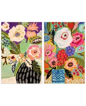 Empire Art Direct Fresh Flowers in Vase I I Frameless Free Floating Tempered Art Glass Wall Art, 48