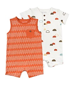 Baby Boy 2-Pack Rompers