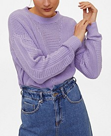 Openwork Cotton Sweater