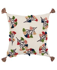 "Floral Decorative Pillow Cover, 20"" x 20"""