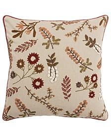 "Floral Decorative Pillow Cover, 20"" x 20"""