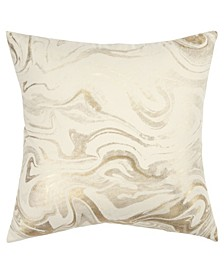 """Abstract Polyester Filled Decorative Pillow, 20"""" x 20"""""""