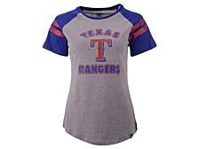 Women's Texas Rangers Fly Out Raglan T-Shirt