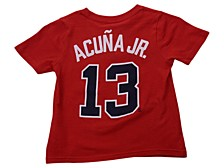 Atlanta Braves Kids Ronald Acuna Name and Number Player T-Shirt