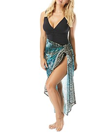 Printed Topaz Sarong Cover-Up