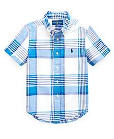 Little Boys Madras Shirt