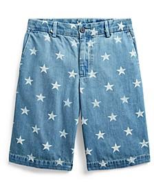 Big Boys Star-Print Denim Shorts