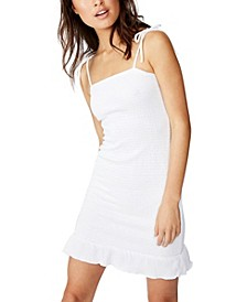Shelby Shirred Strappy Mini Dress