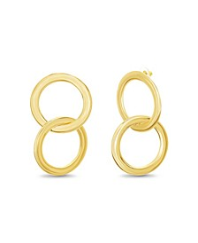 Women's Gold-Tone Interlocking Post Earrings