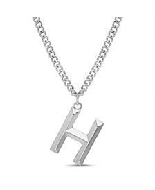 """Women's Silver-Tone """"H"""" Initial Necklace"""
