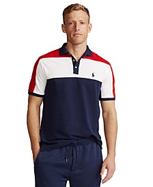 Men's Custom Slim-Fit Color-Blocked Polo Shirt