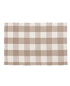 "Farmhouse Buffalo Check 20"" x 36"" Kitchen Mat"