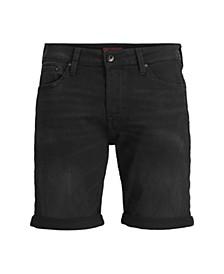 Men'S Indigo Knit Denim Shorts