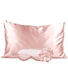 Pink Satin Sleep 3pc Gift Set