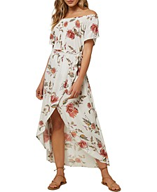 Juniors' Conners Off-The-Shoulder Midi Dress