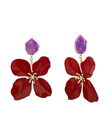 Acrylic Flower Statement Earring