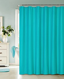 """Hotel Spa Luxury Collection Waffle Weave Shower Curtain, 70"""" x 72"""""""