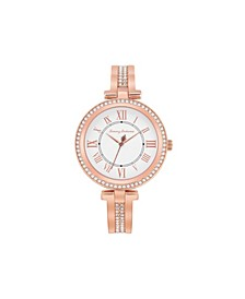 Women's Palm Beach Rose Gold Stainless Steel Bangle Watch, 36mm