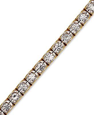 Diamond Bracelet in 14k Yellow or White Gold 2 ct t w