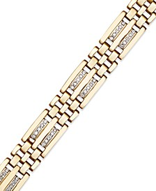 Men's Diamond Bracelet in 10k Gold (1/4 ct. t.w.)