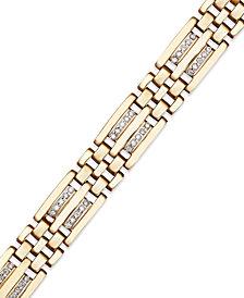 Men's Diamond Bracelet in 10k Gold (1/4 ct. t.w.)