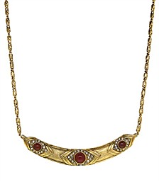 by 1928 14 K Gold and Crystal Collar Necklace