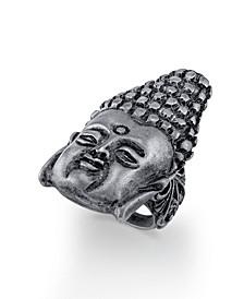 by 1928 Pewter Tone Buddha Head Ring