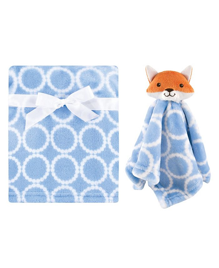 Hudson Baby - - Baby Boys and Girls Plush Blanket with Security Blanket Set