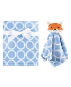 Hudson Baby Boys And Girls Blanket With Security Blanket In Blue