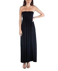 Sleeveless Maxi Dress with Empire Waist and Belt Detail