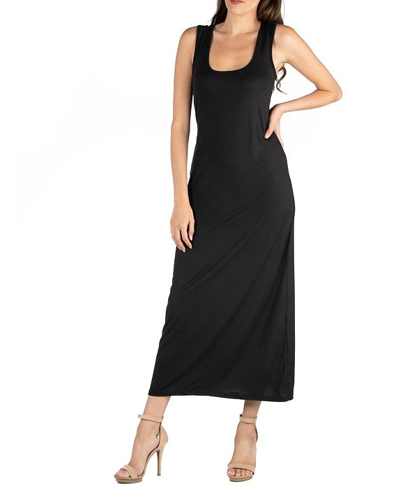 24seven Comfort Apparel Scoop Neck Maxi Dress with Racerback Detail