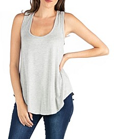 Scoop Neck Razorback Sleeveless Tunic Top