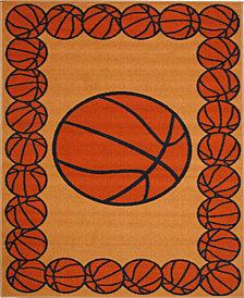 """Fun Rugs Fun Time Basketball Time 19"""" x 29"""" Area Rug"""