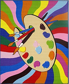 "Fun Time Painting Time 19"" x 29"" Area Rug"
