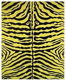 "Fun Time Zebra Skin 19"" x 29"" Area Rug"
