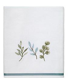 Ombre Leaves Bath Towel