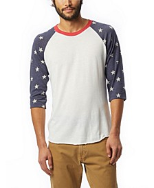 Men's Baseball Printed Sleeve T-Shirt