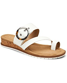 Women's Step 'N Flex Maudd Toe-Loop Demi-Wedge Sandals, Created for Macy's