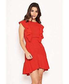 Women's Wrap Frill Detail Dress