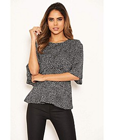 Women's Spotty Flared Blouse