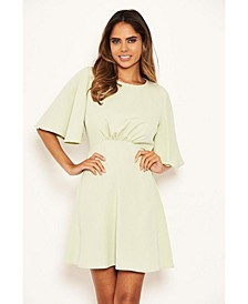 Women's Gathered Waist Skater Dress