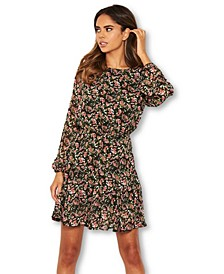 Women's Floral Long Sleeve Dress
